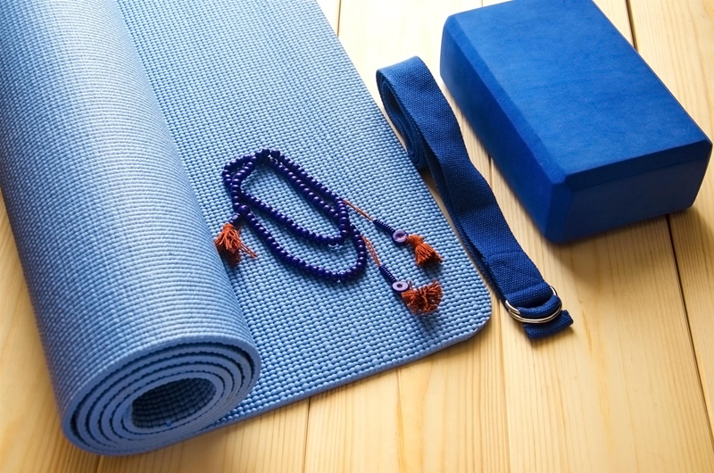 Yoga different accessories