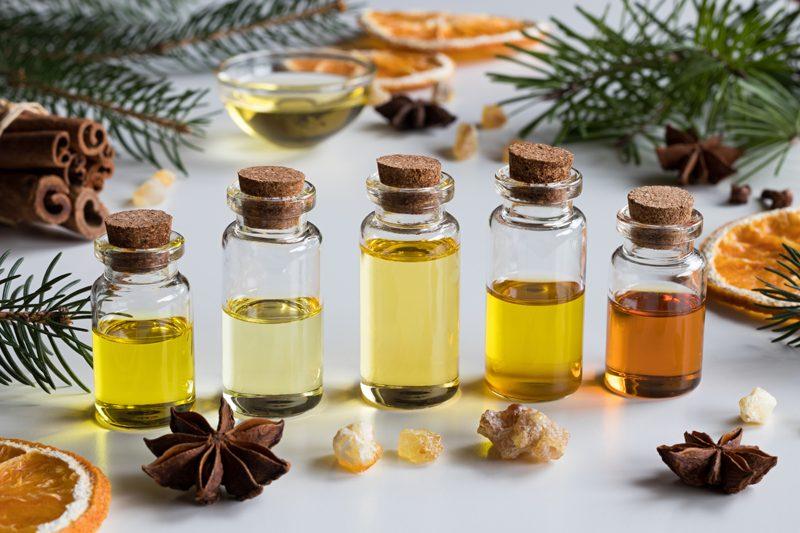 Yoga essential oils
